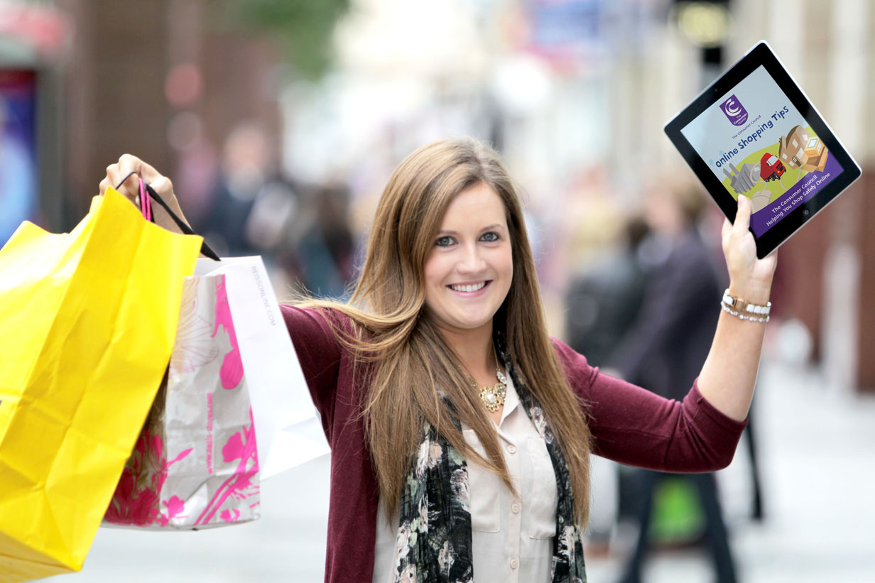 Caption – Consumer Hannah Close checks out the Consumer Council